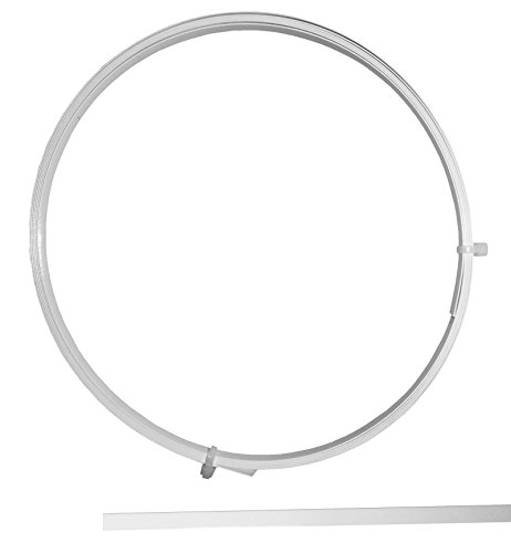Eloja Wigona Federband Stahl beschichtet 7 mm Weiss Meterware Korsett Mieder