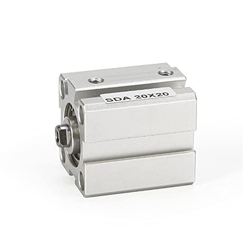 MING-BIN Aire del Cilindro de aleación 30mm Stroke 5/10 / 20/25/30/40 / 50mm Doble actuación SDA20 Cilindro de pistón neumático de Aire Compacto Hembra Partes de maquinaria