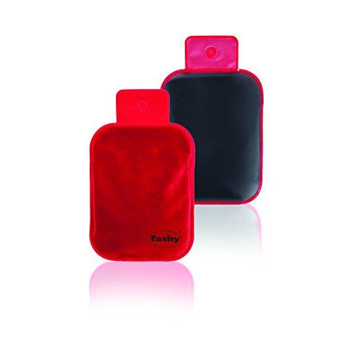 Fashy 6300 - Bolsa térmica de gel con funda, color rojo