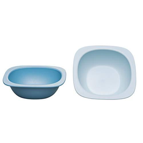 nip Eat Green öko bio Breischale: Ohne Melamin und BPA, Spülmaschinenfest, geeignet für die Mikrowelle, 2 Stück, blau