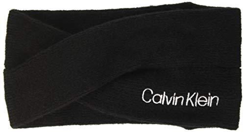 Calvin Klein Damen Twisted Headband Hut, Schwarz, Einheitsgröße