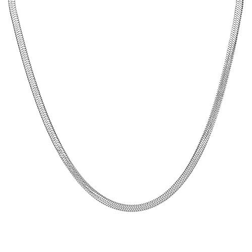 Collar de gargantilla tipo cadena de plata 925 de 4 5 mm de grosor para mujer, joyería excelente de lujo, joyería de boda, Rock Punk-Silver