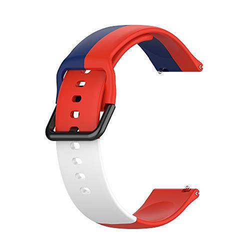 gujiu Correas de silicona suave de liberación rápida – 20 mm, 22 mm, bandas de reloj de goma suave sedosa, para Samsung Galaxy Watch 3 Gear S2 S3 Active 1 2 Amazifit, Huawei GT2