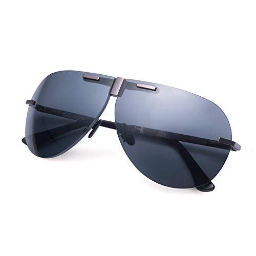 Gafas de sol Unisex Aleación de titanio Los lentes polarizados de alta definición mejoran la seguridad vial Protección UVA y UVB Reduce la fatiga ocular para hombres y mujeres Gafas de sol clásicas