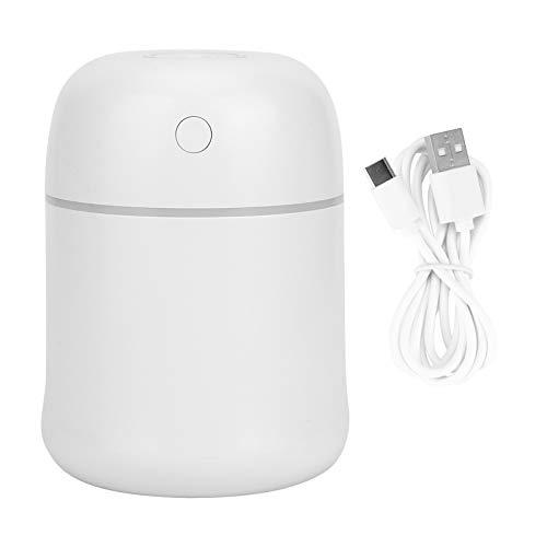 Uxsiya Fácil de limpiar 220 ml de gran capacidad, luces coloridas y frescas humidificador de aire humidificador de coche ambientador, alimentado por USB pequeño y ligero para el dormitorio de casa