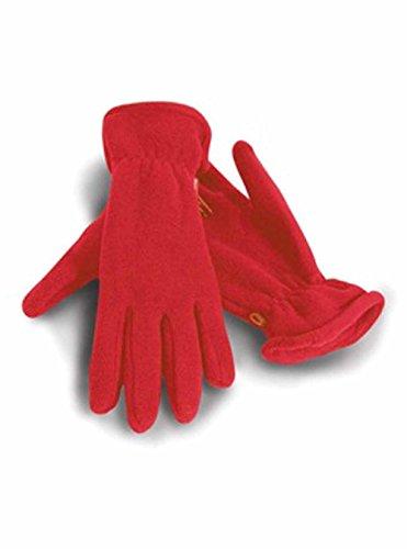 Result - gants polaires ACTIVE FLEECE GLOVES R144 - mixte homme/femme - coloris ROUGE - taille L