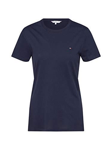 Tommy Hilfiger Damen ZA New Lucy C-NK TOP SS T-Shirt, Blue, Large