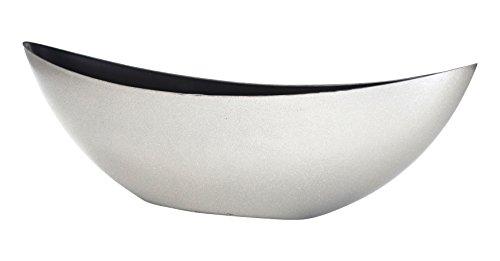 Decoline Kunststoff Blumentopf Schiff (Silber Glitter, XL: 55.5 x 17.5cm)