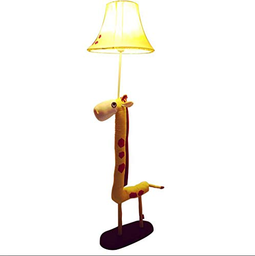 XZ LIGHT kindertafellamp LED vloerlamp geel stof decoratieve lamp bedlampje hoogte 125cm