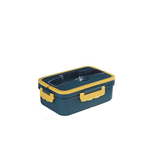 WJYD Mdbh Boîte Bento Boîte de Rangement de la boîte de Rangement de blé Matériau de la Paille d'étanche Square Square Boîte Bento avec Compartiment (Color : Blue, Lunch Box Capacity : 1000ml)