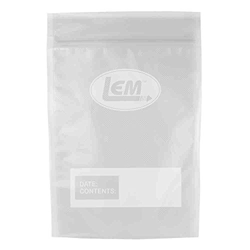 """LEM Products 1255 Resealable Vacuum Sealer Bags with Zipper (11""""x16"""")"""