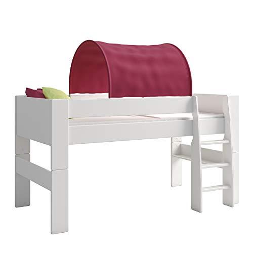 Steens For Kids Tunnelzelt für Kinderbett, Hochbett, 88 x 69 x 91 cm (B/H/T), Baumwolle, lila