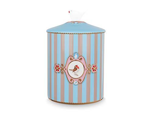 PiP Studio 51009033 Love Birds - Barattolo per alimenti, 1,3 l, colore: Blu/Kaki