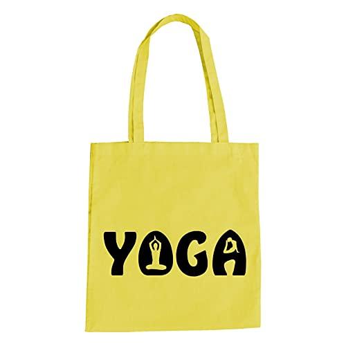 Yoga Baumwolltasche   Joga   Yuga   Sport   Yama   Entspannung   Wellness Gelb