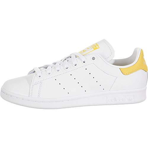 adidas Originals Stan Smith, Zapatillas Deportivas. para Mujer, Blanco, Blanco, Amarillo, 39 EU