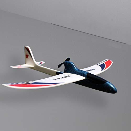 Yzki RC Flugzeug Spielzeug, elektrisches EPP Schaum Flugzeug ferngesteuert mit 2,4 GHz mit Batteriehülle Handwurfspielzeug Kinder Fliegenspielzeug, blau, Free Size