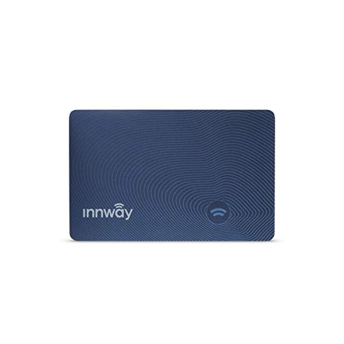 Innway Card - Ultra Thin Rechargeable Bluetooth Tracker Finder. Find Your Wallet, Bag, Backpack, Keys, Laptop, Tablet (Blue)