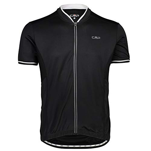 CMP Herren Rad Trikot T-Shirt, Nero-Bianco, 52