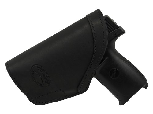 Barsony New Black Leather Inside The Waistband Holster for Shield Lasermax Centerfire Right