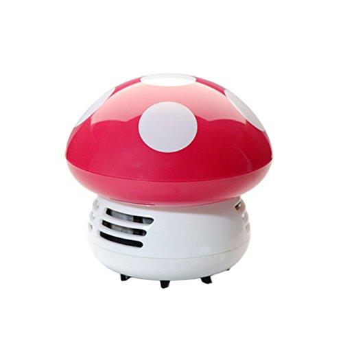 WINOMO Mini Aspirateur Nettoyer Poussière pour Table/Bureau/Coussin/Voiture (Rose Rouge)