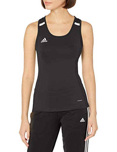 adidas Damen T19 Tank W Top, Black/White, S