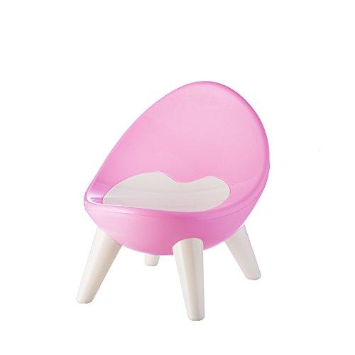Dana Carrie Plastica Spessa Verde Baby BB Bambini sedie per Bambini Bambino Sgabello Piccola Sedia Baby Sedia Sgabello, Rosa