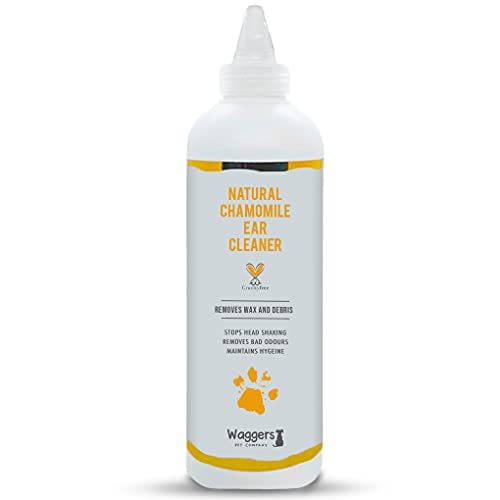 Natural Chamomile Dog Ear Cleaner   Organic Ear Cleaner To Stop Smelly, Itchy Ears & Remove Wax   Chamomile & Aloe Vera Formula   Dog Ear Cleaner solution For All Dogs & Puppies - 250ml
