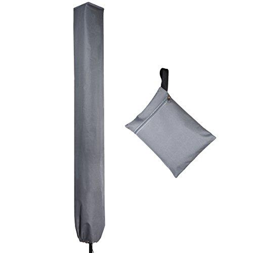 PATIO PLUS Housse de Protection pour Séchoirs Parapluie, Tissu Oxford 600D Housse de Protection pour Séchoir de Jardins Housse pour Cordes à Linge Rotatives, 16x16x180cm Gris