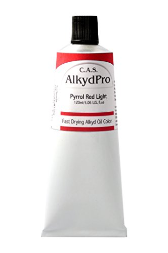C.A.S. Paints AlkydPro Fast-Drying Alkyd Oil Color Paint Tube, 120ml, Pyrrole Red Light