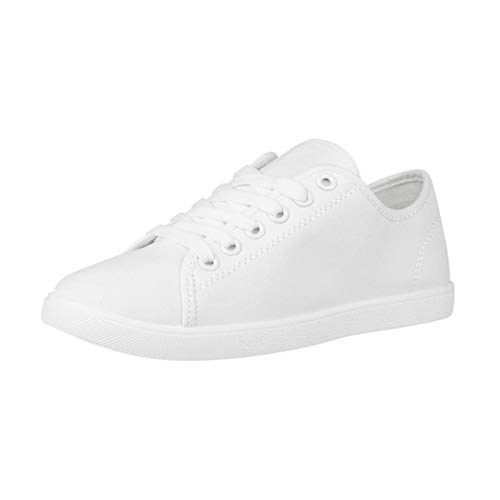 Elara Damen Sneaker Basic Chunkyrayan CL33319 White-40