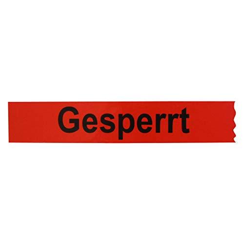 6 Rollen Klebeband Gesperrt 25 mm x 66 lfm Absperrband Paketband Packband Warnband Hinweisklebeband