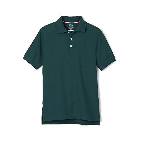 French Toast Boys' Short Sleeve Pique Polo Shirt (Standard & Husky), Hunter Green, 8