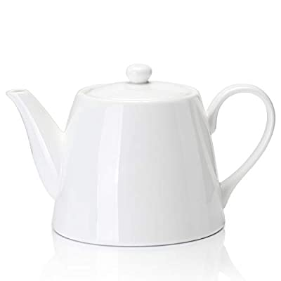 Sweese 223.101 Porcelain Teapot, 28 Ounce Serving Teapot for 2, White