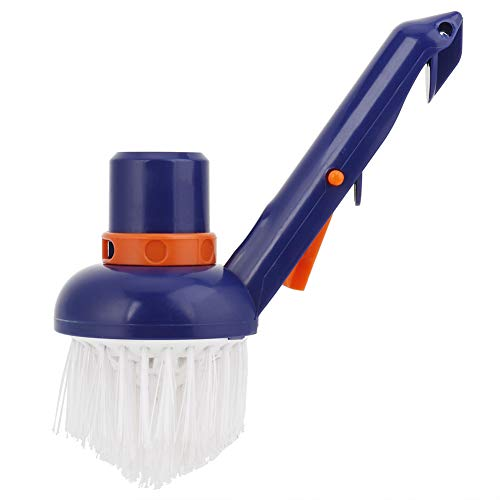 Dibiao Swimming Pool Step Corner Vacuum Brush Pool Cleaner Vacuum Head Spas Hot Tubs Cleaning Brushes Nylon Bristles Best for Above Ground & Inground Swimming Pools, Spas & Hot Tubs, Fine Bristles