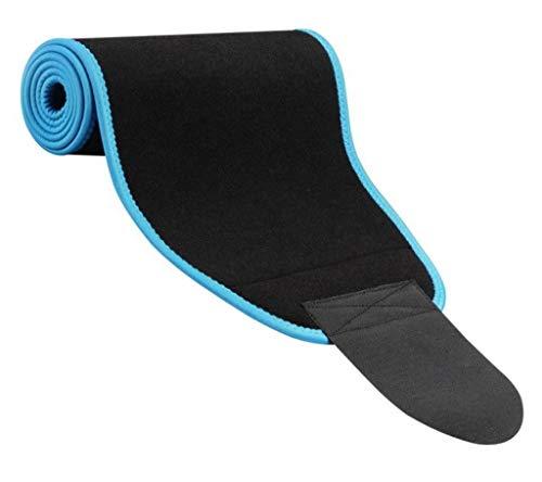 Bigood Ajustable Sport Ceinture Respirant Maintien de la Taille et de l'Abdomen Bleu 23 * 117cm