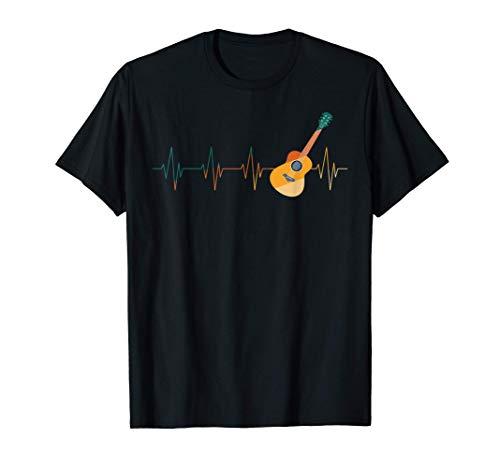 Regalo Instrumento Musical Latido Del Corazón Guitarra Camiseta