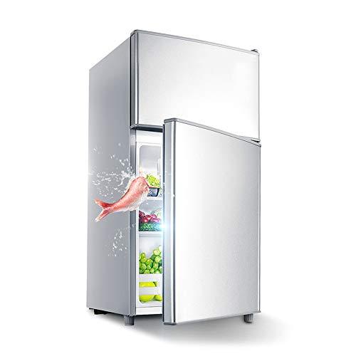 DYWOZDP Mini-Kühlschrank Kühl-Gefrier-Kombination, Doppeltür-Kühlschrank, Kühlschrank: 70 Liter, Gefrierschrank: 36 L, Türdichtung Wechselbar Reinigungsfreundlich, Fassungsvermögen: 90 Liter,B