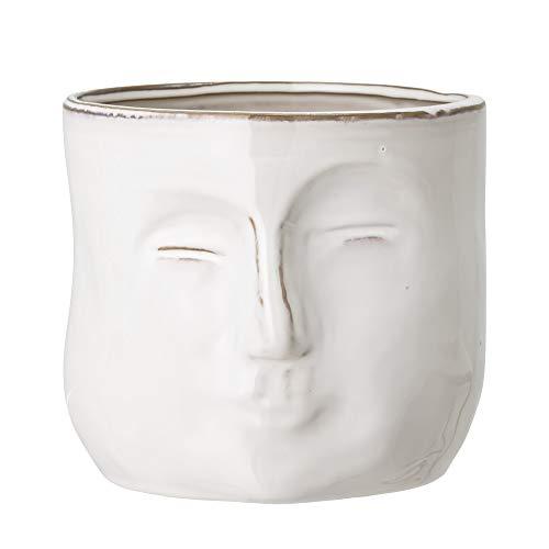 Bloomingville Blumentopf, weiß, Keramik