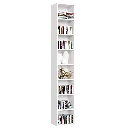 Homfa Librería Estantería Pared 8 Cubos Estantes