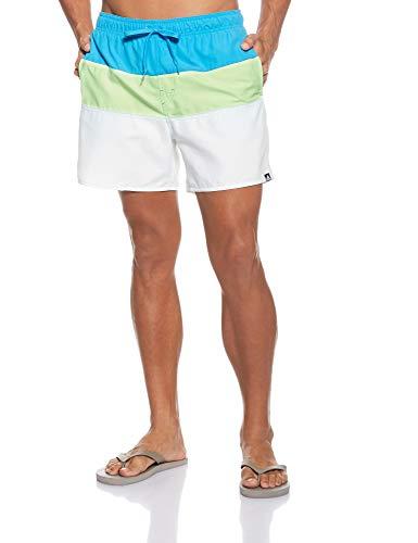 adidas CB Sh SL, Costume da Nuoto Uomo, Shock Cyan/Hi-RES Yellow/Cloud White, XL
