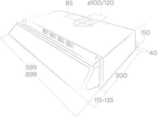 Campana extractora de cocina con instalación bajo armario de 90 cm Silver GR/F/90 STD: Amazon.es: Grandes electrodomésticos