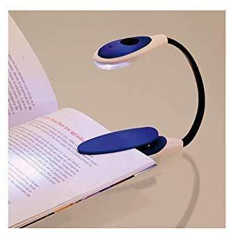 Luz de Lectura Libro, LED Cálido y Blanco, 360 ° Flexible, portátil, Lampara de Lectura Pinza para Lectores Noche, E-Reader, Niños, Kindle, Estudio, Cama, Viaje, Tablet, Laptops (Rojo)