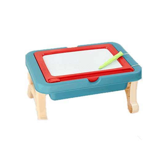 Tablero de Dibujo Tablero de Dibujo Infantil magnético doméstico con Almacenamiento Tablero de Dibujo de Doble Cara, niños y niñas Tableta de Escritura (Color : Red Blue)