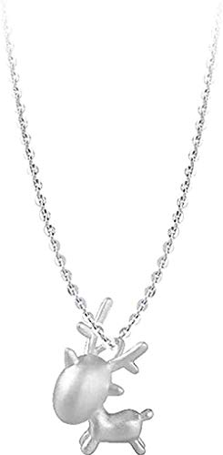 MNMXW Necklace Animal Simple Deer Silver Jewelry Small Clavicle Chain Pendant Necklaces