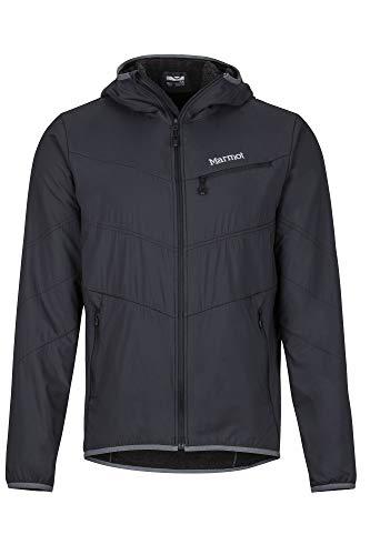 Marmot Herren Alpha 60 Jacket Isolierte Wanderjacke, Funktionsjacke, Gefütterte Steppjacke, Wasserabweisend, Winddicht, Black, XL
