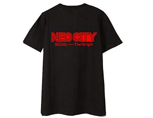 KPOP NCT 127 Unisex T-Shirt NEO City: Seoul-The Origin Kurzärmliges Tops Rundhals T-Shirts für alle Alters-BK-L