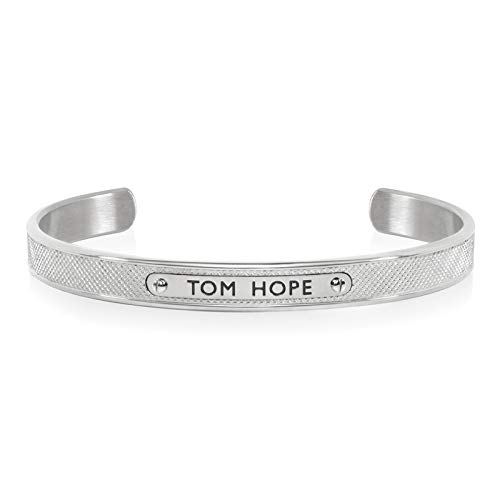 TOM HOPE Pulsera KURLED Cuff Pequeño Silver Hombre M – Ho.TM0551