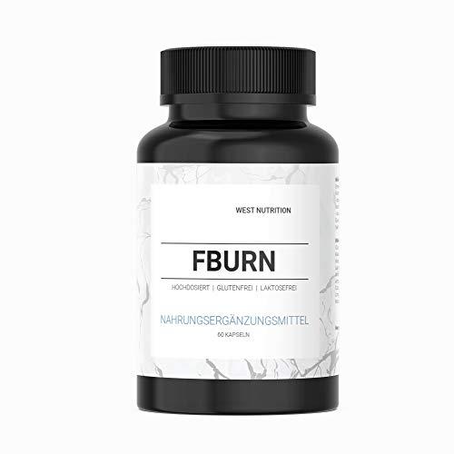 West Nutrition hochdosiert F-BURN Kapseln - extra starke Pillen mit Glucomannan - 30 TAGE KUR - Sommer steht vor der Tür - für Männer und Frauen geeignet