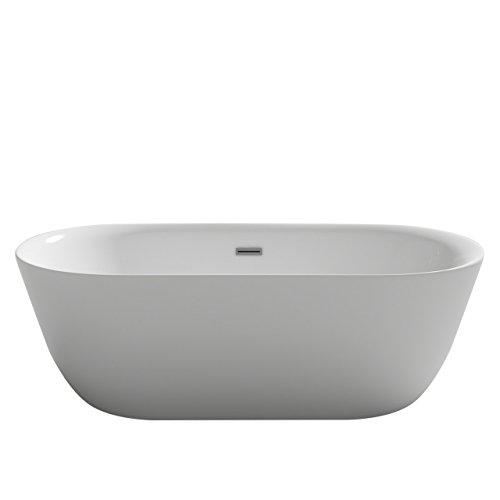 Bañera de diseño Lausanne, blanco acrílico, bañera de doble pared, fija, gran calidad