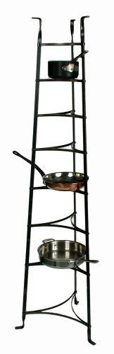 Enclume 8-Tier Cookware Stand, Free Standing Pot Rack, Hammered Steel (Assembled)